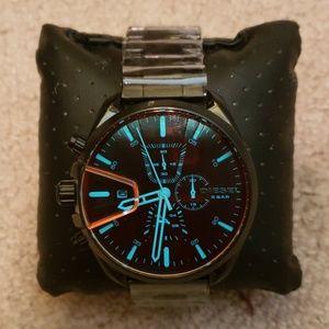 Diesel MS9 chrono watch in black stainless steel